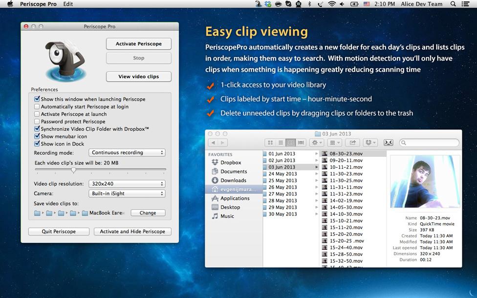 Periscope Pro v1 - ZipZapMac